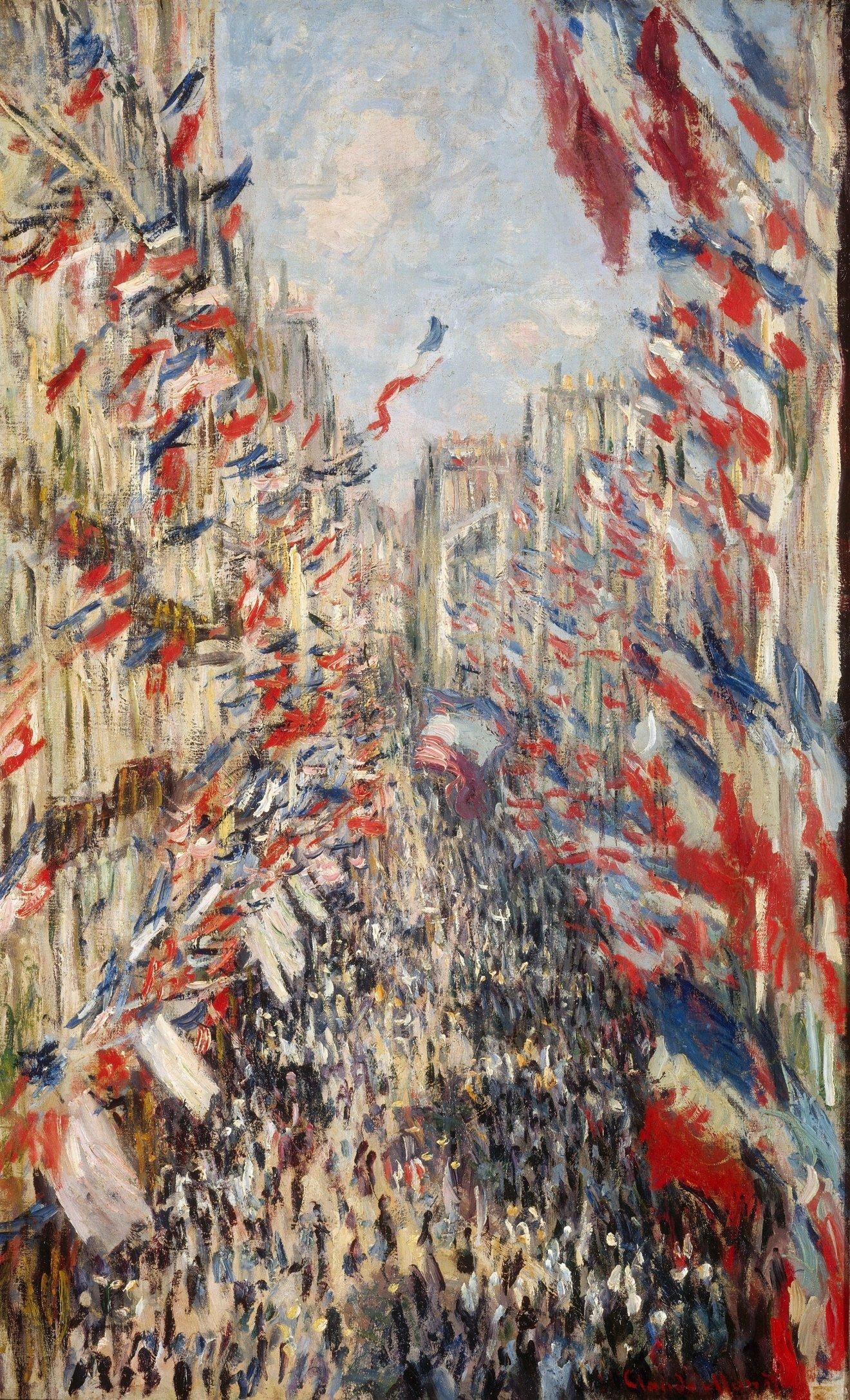 Le Rue Montorgueil, Claude Monet
